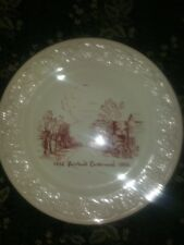 1852 Fairland Centennial plate 1952 with ornate embossed trim