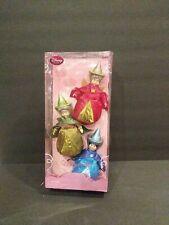 Disney Store Sleeping Beauty Fairies Flora Fauna Merryweather Classic Doll Set