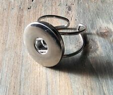Noosa style chunks snap-silver ring- expandable