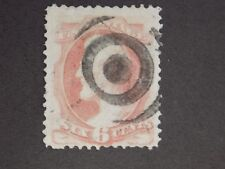 (1) USED U S 1873 Stamp off paper Scott # 159-Lincoln-SON cancel