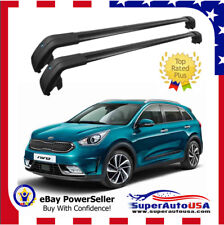 Top Roof Rack  For KIA Niro 2017 - 2019 Black Baggage Luggage Cross Bar Crossbar