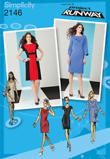 Simplicity Pattern 2146, Project Runway Dress,12,14 & 16 BodyCon Style, Slimming