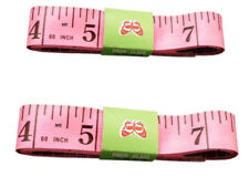 """Pink Body Measuring Ruler Sewing Tailor Tape Measure Soft Flat 60"""" /150cm"""