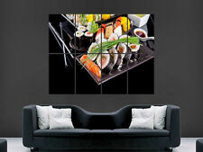 SUSHI JAPANESE FOOD RAW  RESTAURANT   WALL POSTER ART PICTURE PRINT LARGE  HUGE