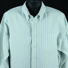 Gap Mens Size XL Shirt L/S Striped Classic Fit Button Front Clothing Extra Large