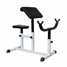 Home Gym Weight Lift Curl Bench Abdominal Muscle Sculpt Strength Fitness Machine