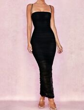 House of CB Ladies Fornarina Black Organza Mesh Maxi Dress Size XS New With Tags