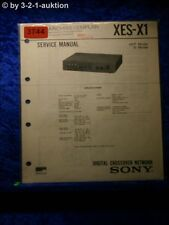 Sony Service Manual XES x1 Digital Crossover Network (#3744)