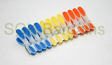 STYLISH 12 PLASTIC CLOTH PEGS WASHING LINE LAUNDRY CLOTHES DURABLE STRONG  23007