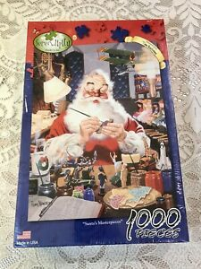 Santa's Masterpiece 1000 Piece Jigsaw Puzzle. By Serendipity, Factory Sealed
