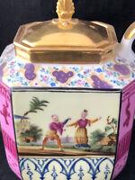 Théière Porcelaine au Chinois Vieux PARIS EMPIRE RESTAURATION CHARLES X Antique