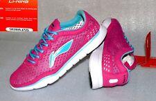 Lining C332 Seamless Lite Damen Schuhe Sneaker Rau Leder Mesh Pink Türkis 37 UK4