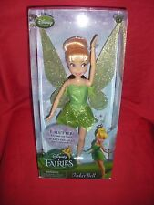 DISNEY FAIRIES TINKER BELL CLASSIC DOLL WITH FLUTTERING WINGS RETIRED NEW SEALED