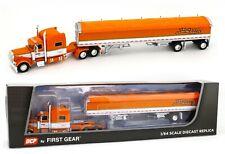 "Dcp 1:64 Tri-State Orange Peterbilt 389 70"" Bunk Semi w/50' Wilson Grain Trailer"