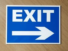Road Exit Sign with Right Arrow.  Plastic outdoor sign.  (PL-119)