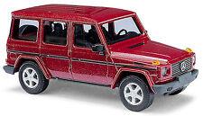 Mercedes Benz G Class W463 SUV 1990-2001 Red Red Metallic 1:87 Busch