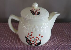 Vintage Tea Pot Pantry Bak-In Ware by Crooksville #536 Embossed and Painted