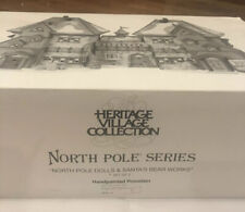 Dept 56 North Pole Dolls & Santa's Bear Works Village #56359 - New In Wrappers