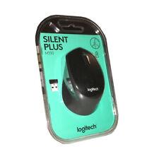 LOGITECH M330 Silent Plus kabellose, geräuschlose Maus (scharz/grau) - NEU & OVP