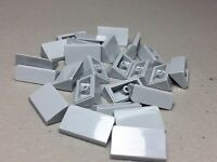 Lego New Slope 30 1 x 2 x 2/3 (Lot of 25) 85984 Light Bluish Gray Authentic