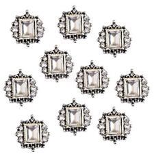 10pcs Decorative Square Crystal Rhinestone Flatback Buttons Embellishments