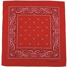 MFH Bandana Coton Léger Hommes Design Zandana Plein Masque Occasionnel Rouge