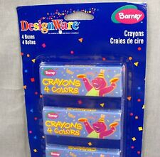 Barney Crayons Vintage Design Ware Party Favors 4-Pack 2000 NEW Crayon Boxes