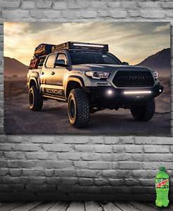 Banner with Toyota Tacoma Truck Offroad 4x4 Desert Art Poster Banner USA