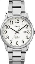 Timex lector fácil Esfera Blanca Acero Inoxidable Reloj De Hombre TW2R23300 RRP £ 49.99