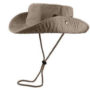Gelante Unisex 100% Cotton Bucket Hat Fish man Camping Safari Boonie Sun Summer