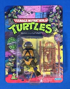 TMNT 1988 TEENAGE MUTANT NINJA TURTLES DONATELLO 10 BACK UNPUNCHED MOC