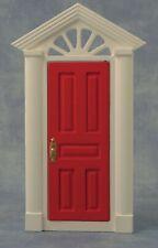 1:12 Échelle Rouge Bois Peint Fairy Ouverture Porte Tumdee Poupées Maison 695C