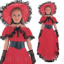 GIRLS SCARLET O HARA FANCY DRESS COSTUME CHILDS GIRL VICTORIAN DAY OHARA NEW 10
