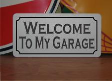 """Welcome To My Garage Met 00004000 al Sign 6""""x12"""" Vintage Design"""