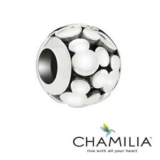 Genuine Chamilia 925 Disney Mickey mouse openwork bracelet charm with sleeve