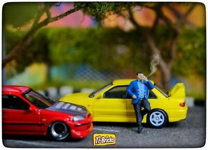 Miniature Figure 1:64 scale Big Boss Smoking for Hotwheels, Greenlight, Mini GT