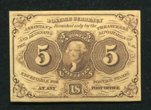 FR. 1230 5 CENTS FIRST ISSUE FRACTIONAL CURRENCY NOTE GEM UNCIRCULATED