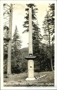 RPPC Ketchikan,AK Totem In Park Ketchikan Gateway County Alaska Postcard Vintage