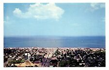 Rehoboth Beach Delaware Postcard Business District Helicopter View AtlanticOcean
