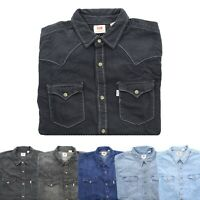Levi's Levi Strauss Mens Barstow Button Down Long Sleeve Western Denim Shirt