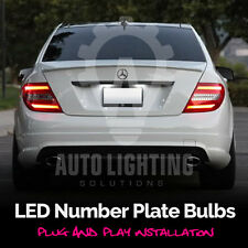 Mercedes C Class W204 Xenon White LED Number Plate / License Light Bulbs Upgrade