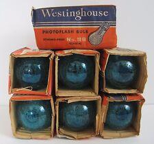Vtg Photo Flash Bulb 11B Westinghouse Photoflash Blue Class M Lot of 7