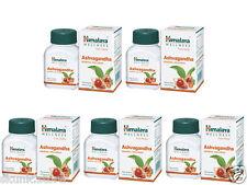 5 X Himalaya Herbal Ashvagandha Pure Herbs Ashwagandha Indian Ginseng 60 Tablets