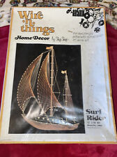 Sealed Vintage Wire N Things By Ship Shop 2662 Surf Rider Boat . 12� X 16�