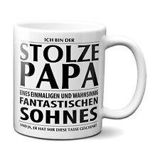 STOLZER PAPA eines fantastischen Sohnes Kaffeetasse Geschenk Vatertag Weihnachte