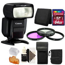 Canon Speedlite 430EX III Flash (Black) + Accessory Kit for Canon EOS 7D 50D 80D