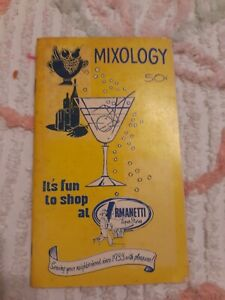 Vintage Happy Hour Mixology Bar Booklet Recipes ARMANETTI Liquor Store Chicago