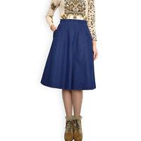 New Casual Jeans Denim A line Skirt Blue Knee Length Sizes 8 10 12 14 16 18 20