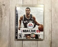 NBA LIVE 09 For PlayStation 3, PS3, Game with case, manual, basketball