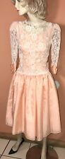 Custom Made Vntg Girls Teen Lace Bow Dress Quince Party Prom Pageant Bridesmaid